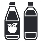 Vector illustration of isolated bottle icon — Vettoriale Stock