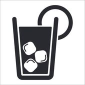 Vector illustration of single cocktail icon — Stock Vector