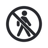 Vector illustration of single forbidden access icon — Stock Vector