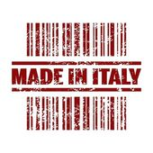 Vector illustration of isolated made in Italy icon — Stock Vector