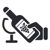 Vector illustration of isolated wine icon — Stock Vector