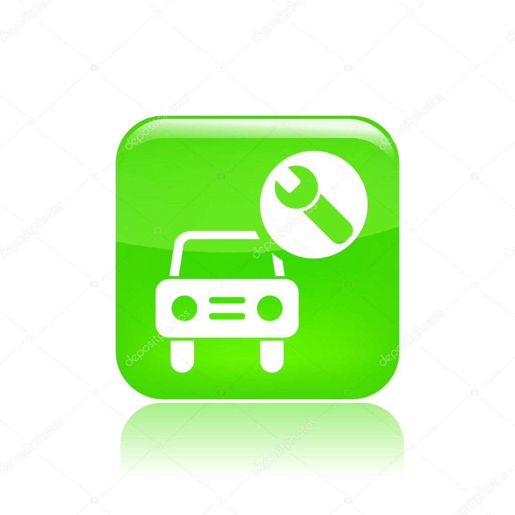 Vector illustration of single isolated car assistance icon — Stock Vector #8820027