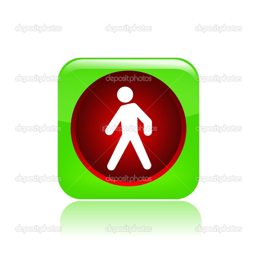 Vector illustration of single isolated traffic light icon — Stock Vector #8820126