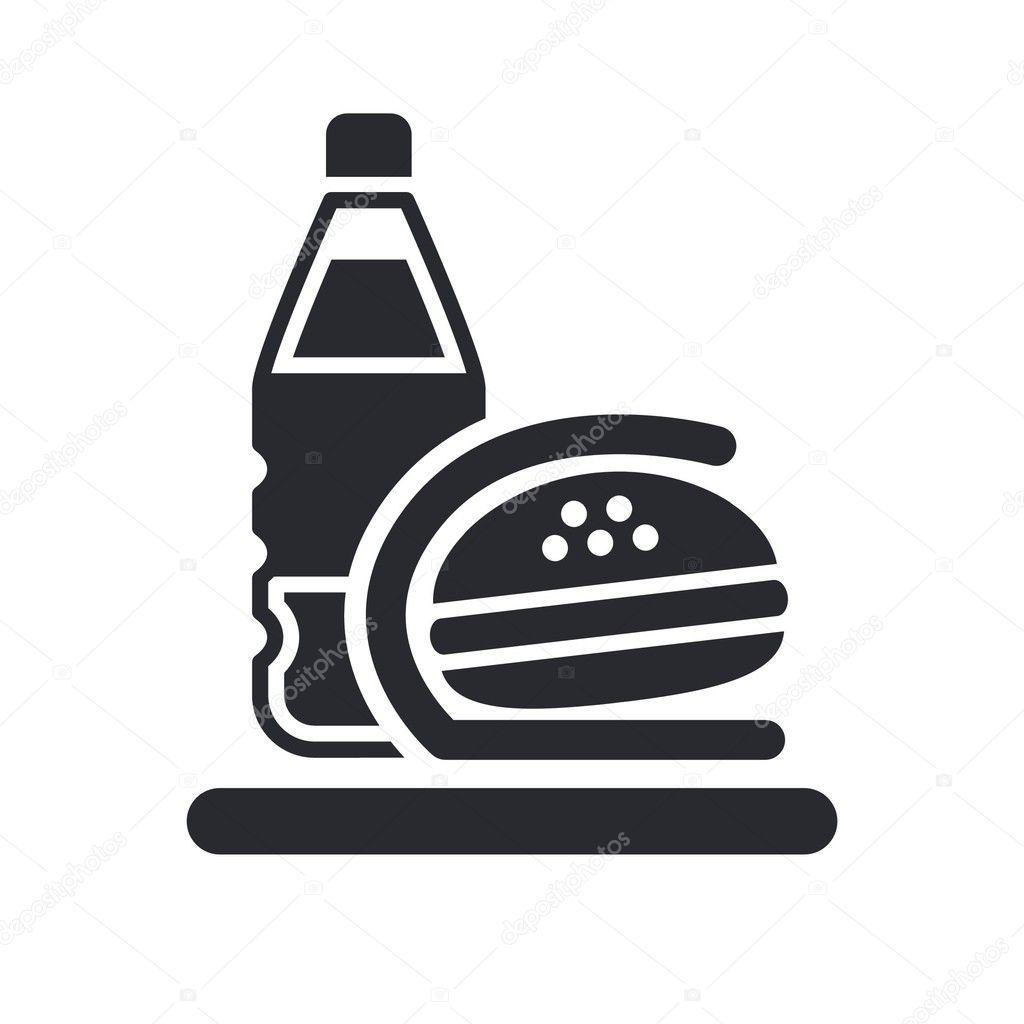 Fast Food Icon Vector Fast-food Icon — Vector by