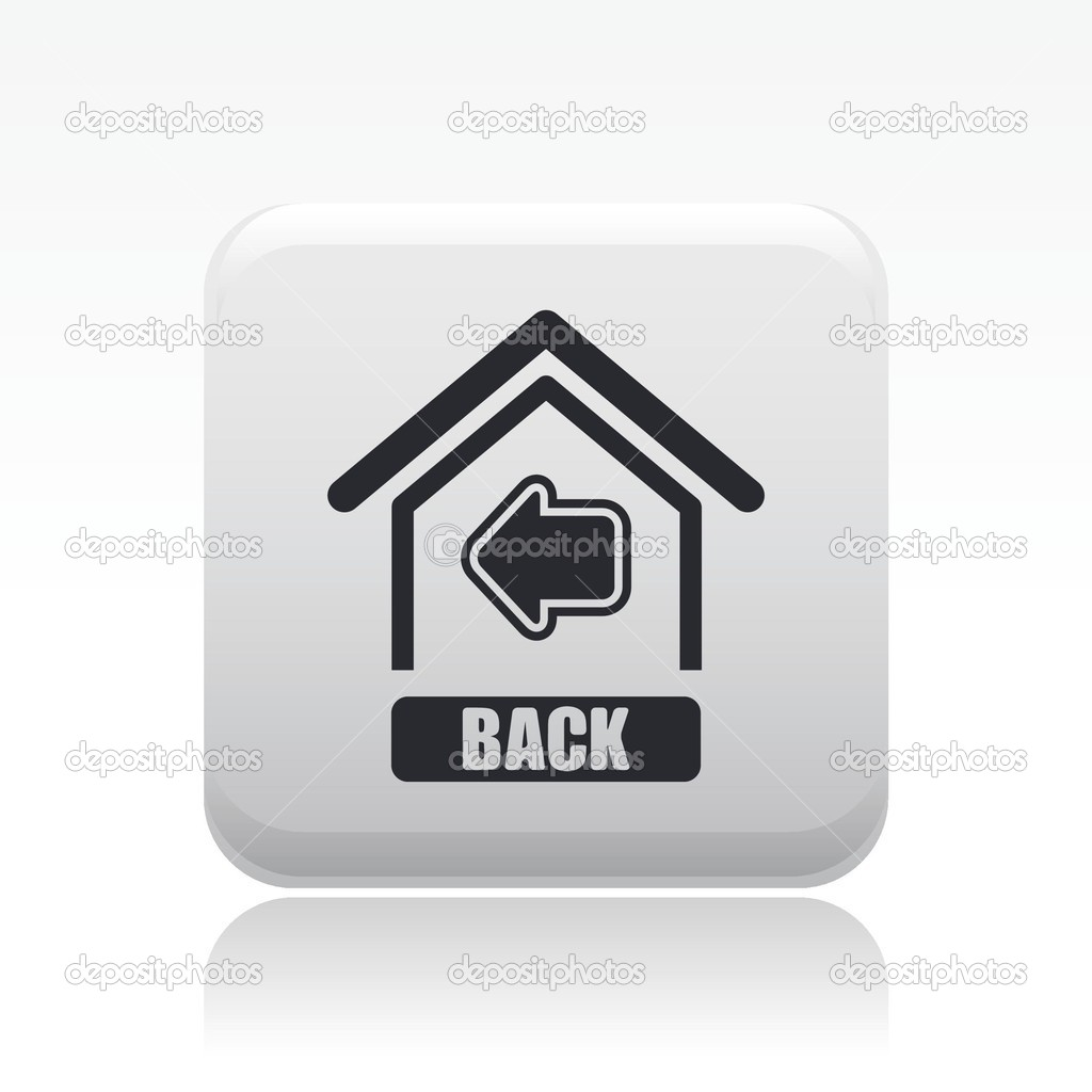 Http Depositphotos Com 8822207 Stock Illustration Vector Illustration Of Single Back Home Icon Html