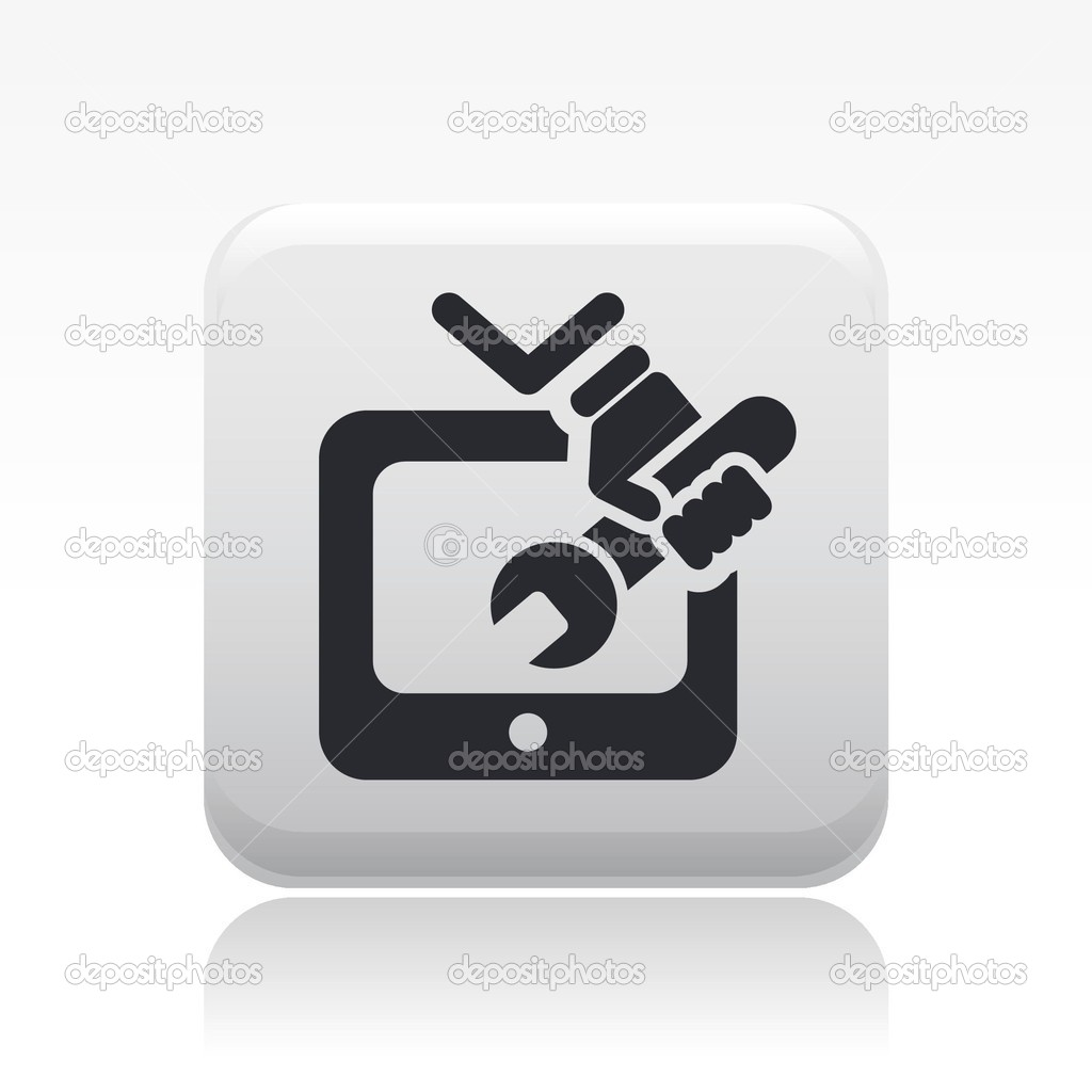 Vector illustration of single isolated tv repair icon  Stock Vector #8827631