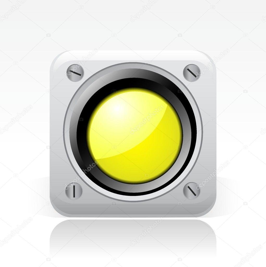 Yellow Light Icon Yellow Traffic Light Icon