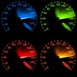 Speedometer Set — Stock Photo