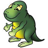 Green Brontosaur — Stock Photo