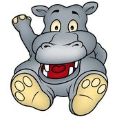 Sitting Hippo — Stock Photo