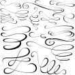 Stock Photo: Calligraphic elements