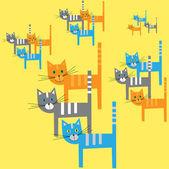 Carton cats — Stock vektor