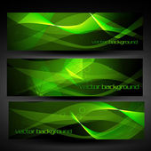 Vector green abstract banner set 2 — Stock Vector