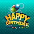 Happy birthday — Vector de stock #8107426