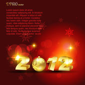 Golden happy new year — Stockvector