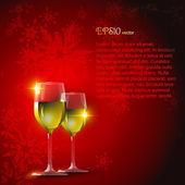 Vector wine glass — Stock Vector