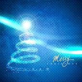 Umělecké vánoční strom — Stock vektor