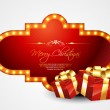 Merry christmas gift — Stock Vector