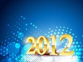 Golden happy new year — Stock Vector