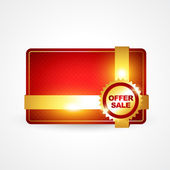 Golden offer sale — Stock Vector