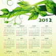 Green happy new year calender — Stock Vector