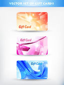 Set of gift cards — Stock Vector
