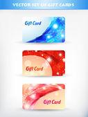 Shiny gift card — Stock Vector