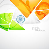 Creative indian flag — Stock Vector