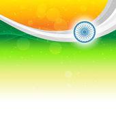 美丽的印度国旗 — 图库矢量图片