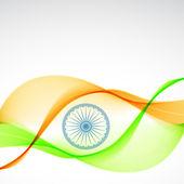 Elegant indian flag design — Stock Vector
