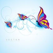 Creative butterfly design — Stock Vector