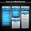 Vector web display banner with space for your text — Vettoriali Stock