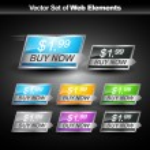 Shiny web button — Stock Vector #8813872