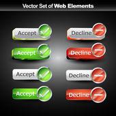Shniy web buttons — Stock Vector