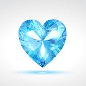 Blue vector valentine heart — Stock Vector