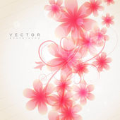 Pink color flower — Stock Vector