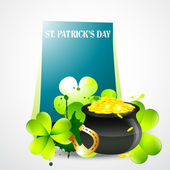 Saint patricks day illustration — Stock Vector