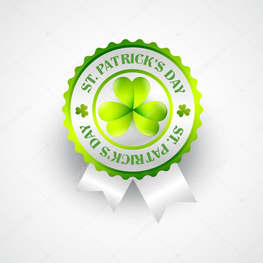 Vector saint patrick's day stamp label — Stock Vector #9288323