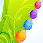Renkli paskalya yortusu yumurta — Stok Vektör
