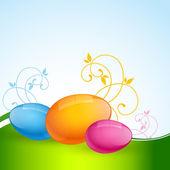 Barevné velikonoční vajíčka — Stock vektor