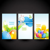 Three easter cards — Stock Vector