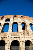 Colosseum with blue sky — Foto Stock