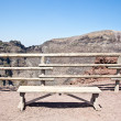 Bench in front Vesuvius crater — Stock Photo