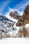 Sunny day on Alps — Stock Photo