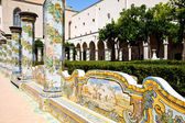 Santa Chiara Monastery - Naples — Stock Photo