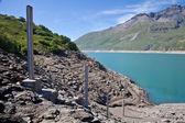 Dam water level measurement — Stock Photo