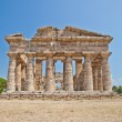 Paestum temple - Italy - Stock Photo