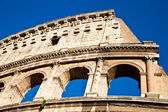 Colosseum with blue sky — Stok fotoğraf