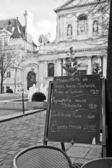 Paris - Menu in a restaurant — Stock Photo