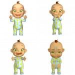 Cartoon Baby Pack 2of2 — Stock Photo